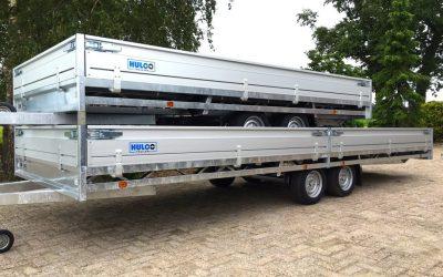 De nieuwe HULCO MEDAX Plateauwagen ACTIE KORTING Tandemasser Tridemas Multitransporter